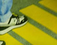 Антискользящая сигнальная лента на ступени 25мм желтая