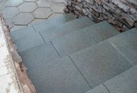 Резиновая плитка для ступеней, фото 1