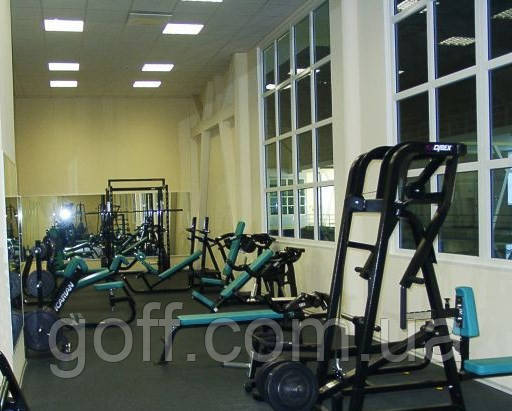 Плитка резиновая для спортзалов, фото 1