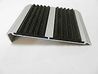 Алюминиевые накладка на ступени «Надежда» (двойные) с углом