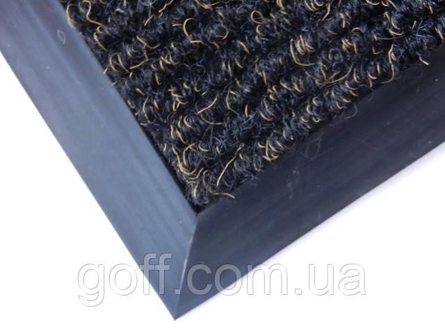 Коврик для вытирания ног  «Поляна» (черный)