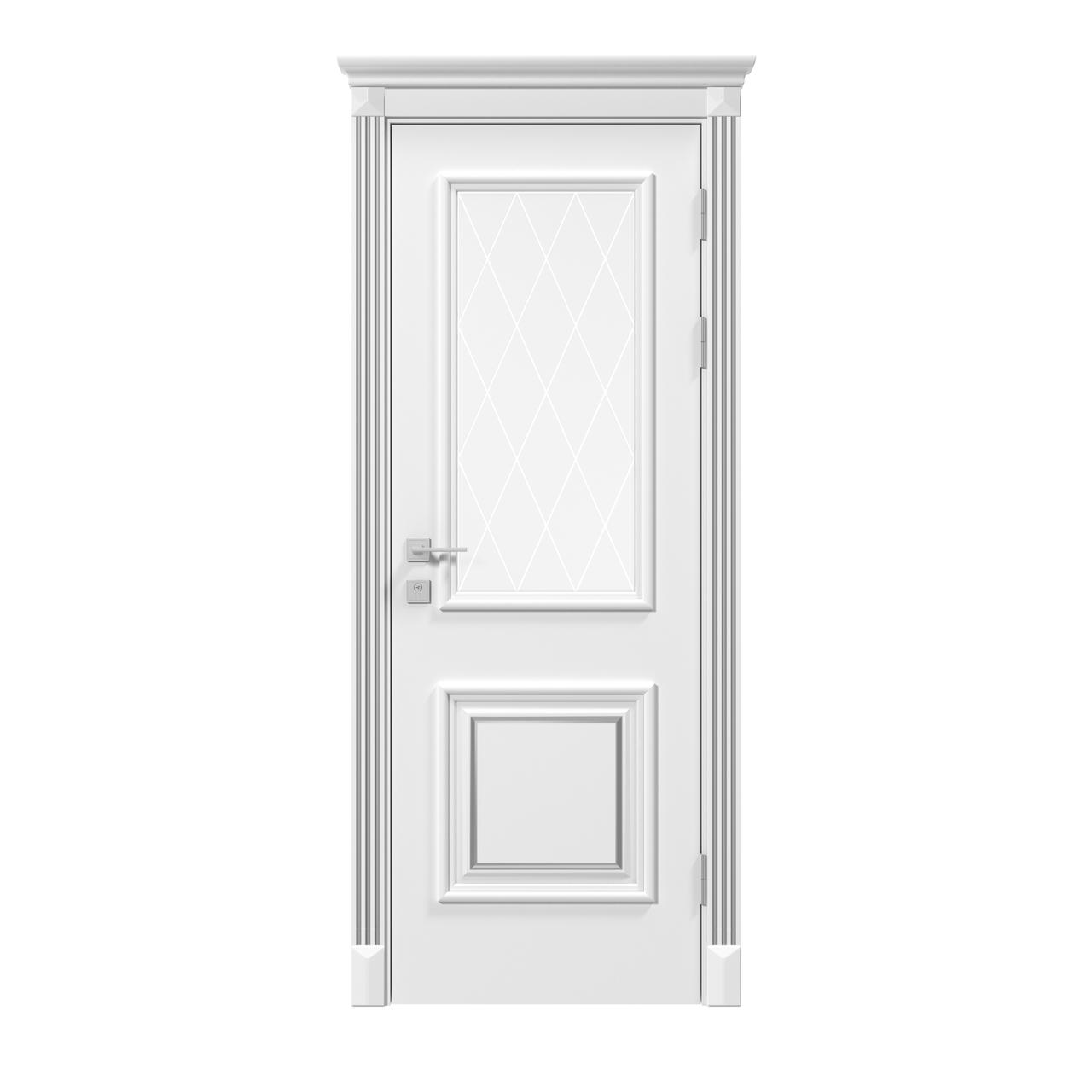 Двери Родос Siena Laura стекло, белый мат