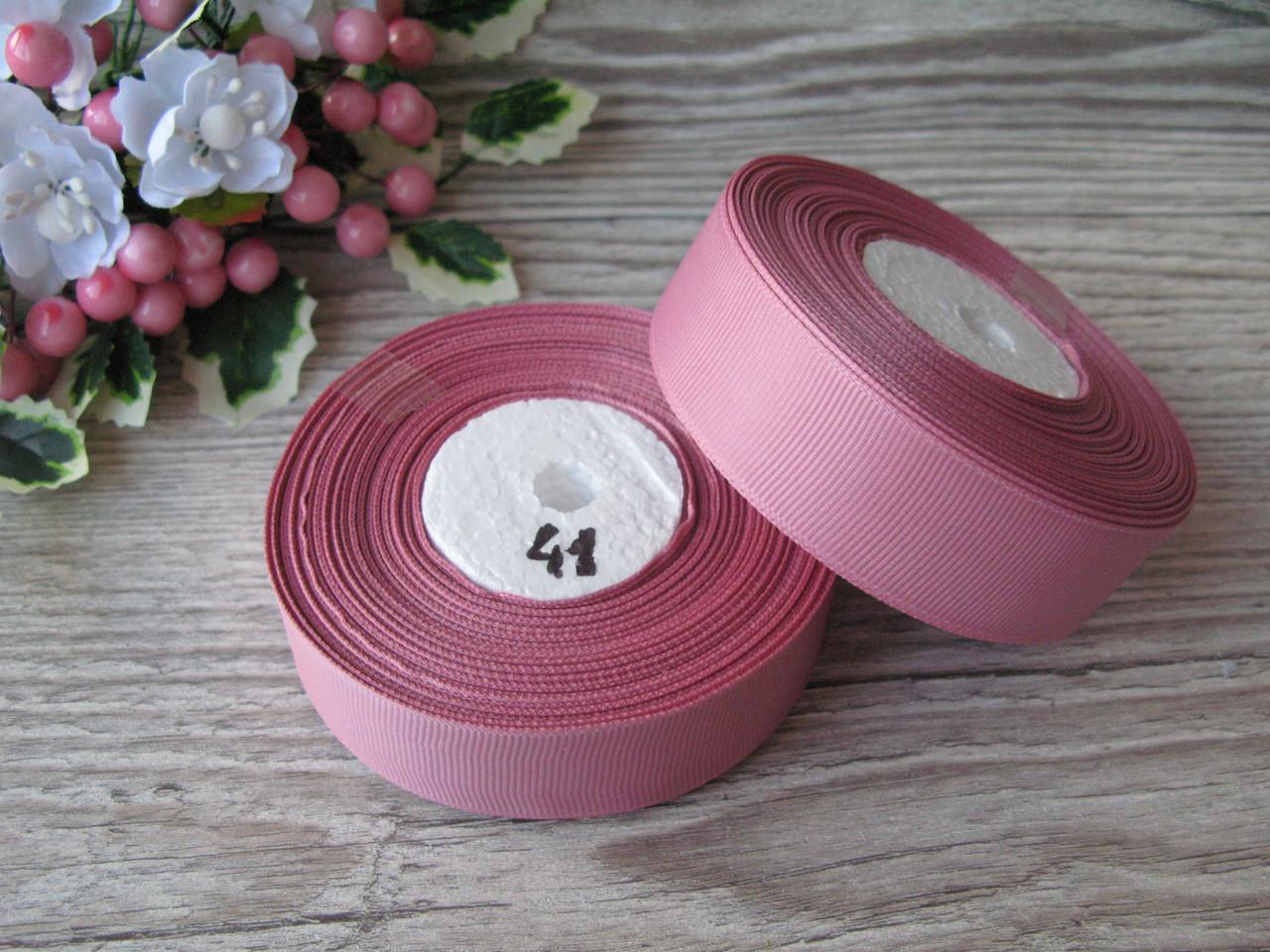 Репс однотонный на метраж. Цвет Пепельно Розовый.  Ширина 2.5 см 3.10 грн за 1 метр