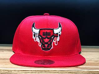 Кепка Snapback с прямым козырьком Chicago Bulls / SNB-2072 (Реплика)