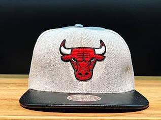 Кепка Snapback с прямым козырьком Chicago Bulls / SNB-2071 (Реплика)