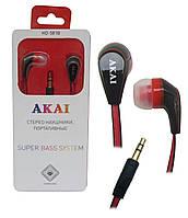 Наушники стереофонические, портативные Akai HD-581B/W