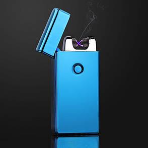 Электроимпульсная USB зажигалка SUNROZ 307 Синий (SUN1837), фото 2