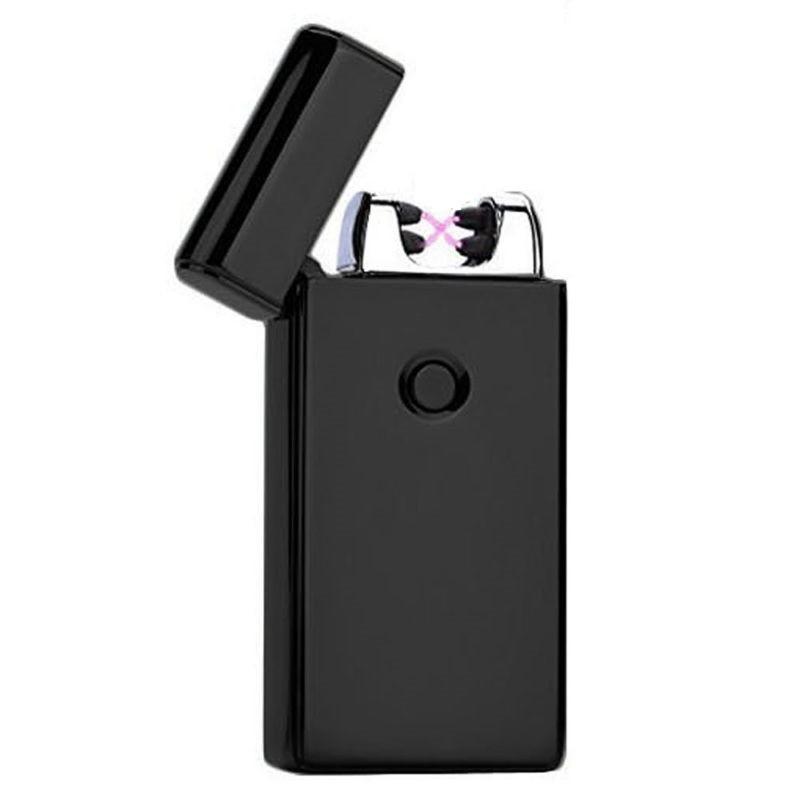 Электроимпульсная USB  зажигалка SUNROZ 307 Черный (SUN1838)