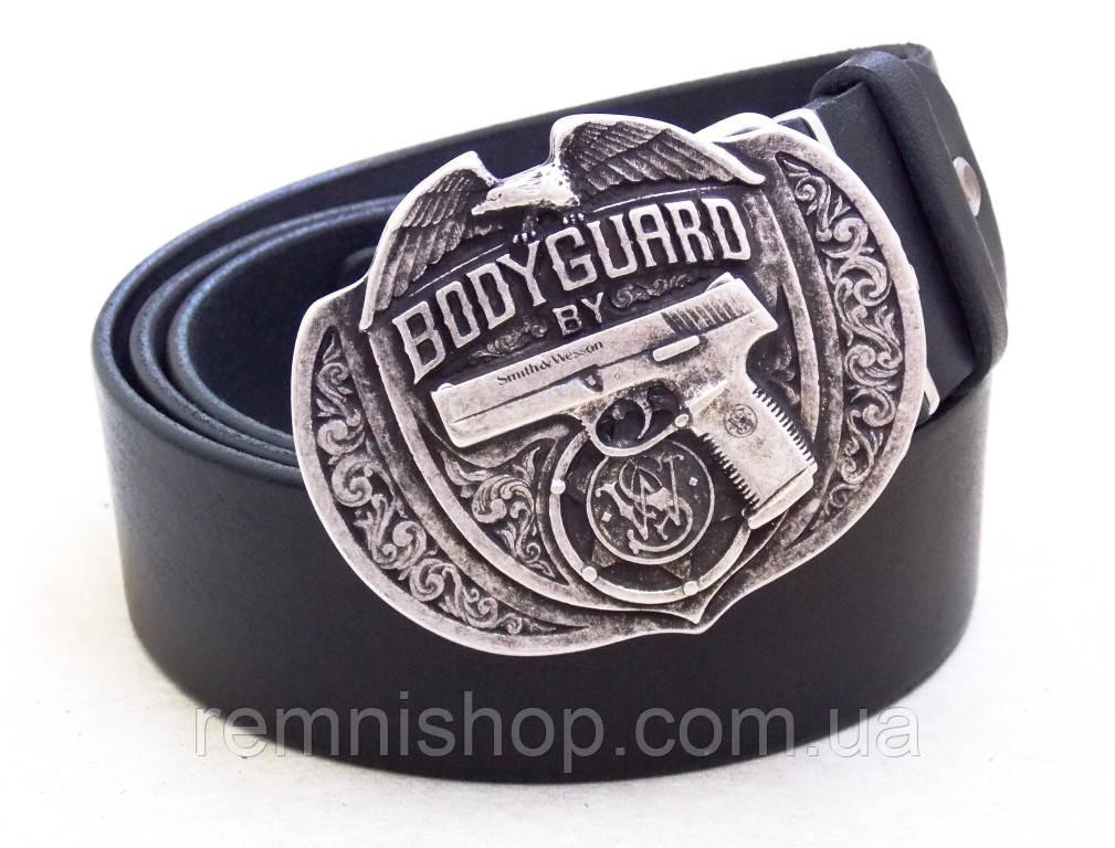 Мужской кожаный ремень Bodyguard