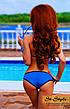 Яркий раздельный купальник с чёрной окантовкой, фото 4