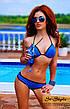 Яркий раздельный купальник с чёрной окантовкой, фото 6