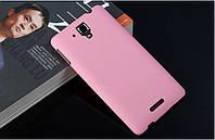 Чехол накладка бампер для Lenovo S8 S898T розовый