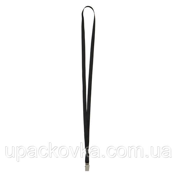 Шнурок для бейджа с металлическим клипом Axent 4532-01-A, черный