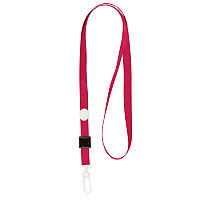 Шнурок для бейджа с карабином Axent 4531-06-A, красный