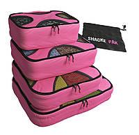 Комплект дорожных органайзеров для путешествий Shacke Pak (Розовый) (SP004), фото 1