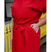 / Размер 50,52 / Женское легкое платье с карманом / 8609-1-Красный, фото 2