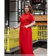 / Размер 50,52 / Женское легкое платье с карманом / 8609-1-Красный, фото 3