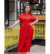 / Размер 50,52 / Женское легкое платье с карманом / 8609-1-Красный, фото 4