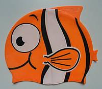 Детская силиконовая шапочка для плавания