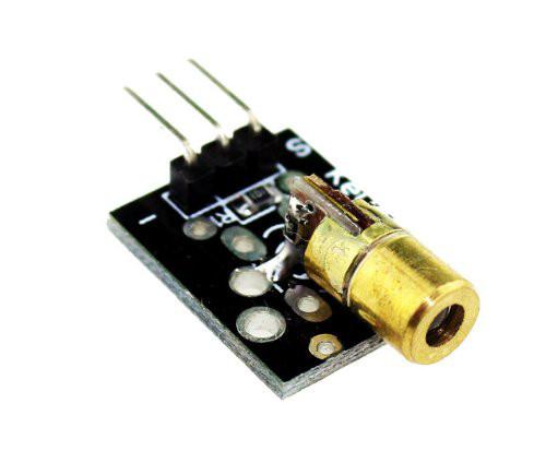 Модуль лазерный, красный диод, KY-008, Arduino