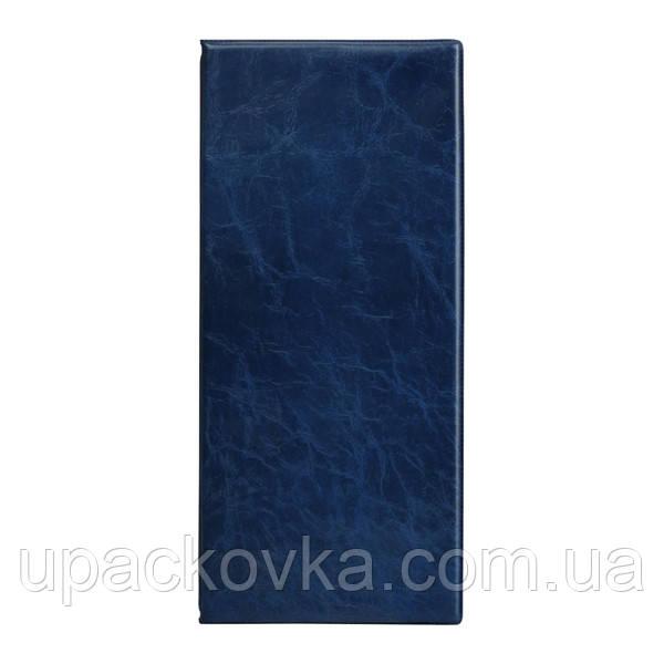 Визитница с впаянными файлами Axent 2502-02-A Xepter, 80 визиток, синяя