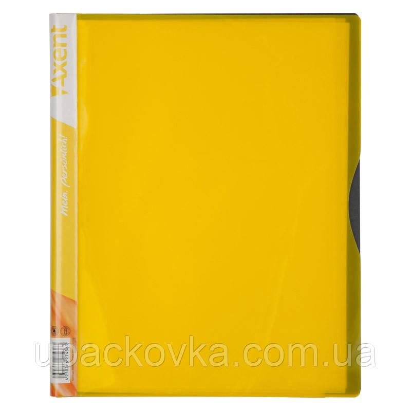Дисплей-книга Axent 1140-08-A 40 файлов, желтая