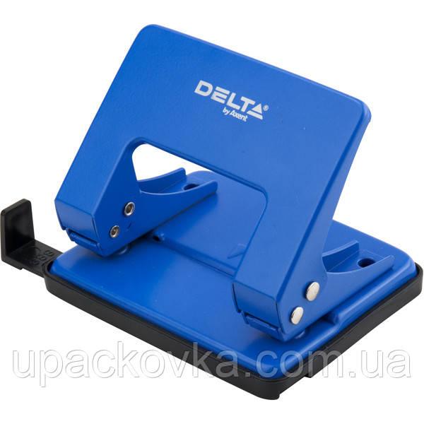 Дырокол металлический Delta D3520-02, 20 листов, синий