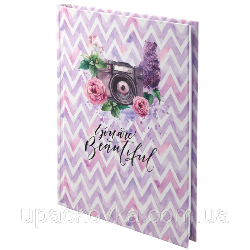 Книга записная Axent Aquarelle 8432-06-А, твердая обложка, А5, 120 листов, клетка