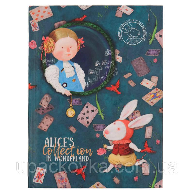 Книга записная в твердой обложке Axent Alice 8432-02-A, A5, клетка