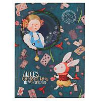 Книга записная в твердой обложке Axent Alice 8432-02-A, A5, клетка, фото 1
