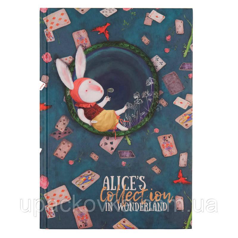 Книга записная в твердой обложке Axent Alice 8433-02-A, B5-, клетка