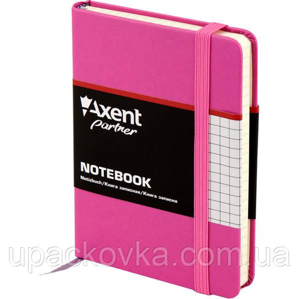 Книга записная Axent Partner 8301-05-A, А6, 96 листов, клетка, пурпурная
