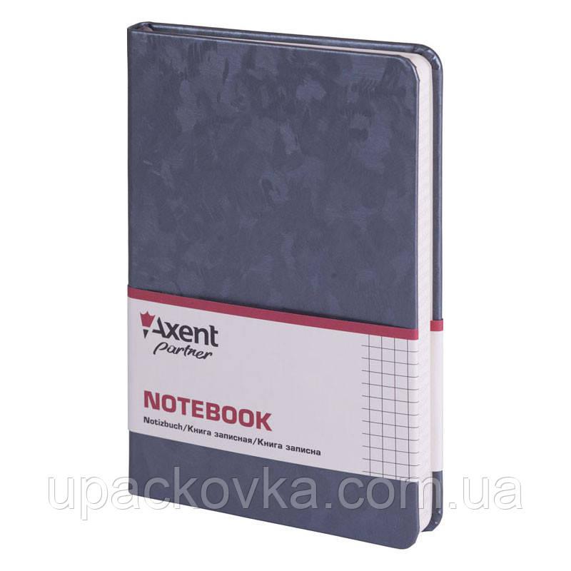 Книга записная Axent Partner Jazz 8207-35-A 125х195, 96 листов, клетка, темно-серебряная