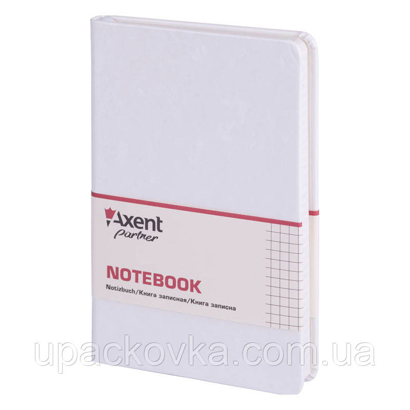Книга записная Axent Partner Jazz 8207-21-A 125х195, 96 листов, клетка, белая