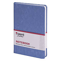 Книга записная Axent Partner Jazz 8207-14-A 125х195, 96 листов, клетка, cиний металл, фото 1
