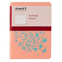 Книга записная Axent Partner Soft Mini 8302-10-A, А6, 80 листов, клетка, светло-розовая