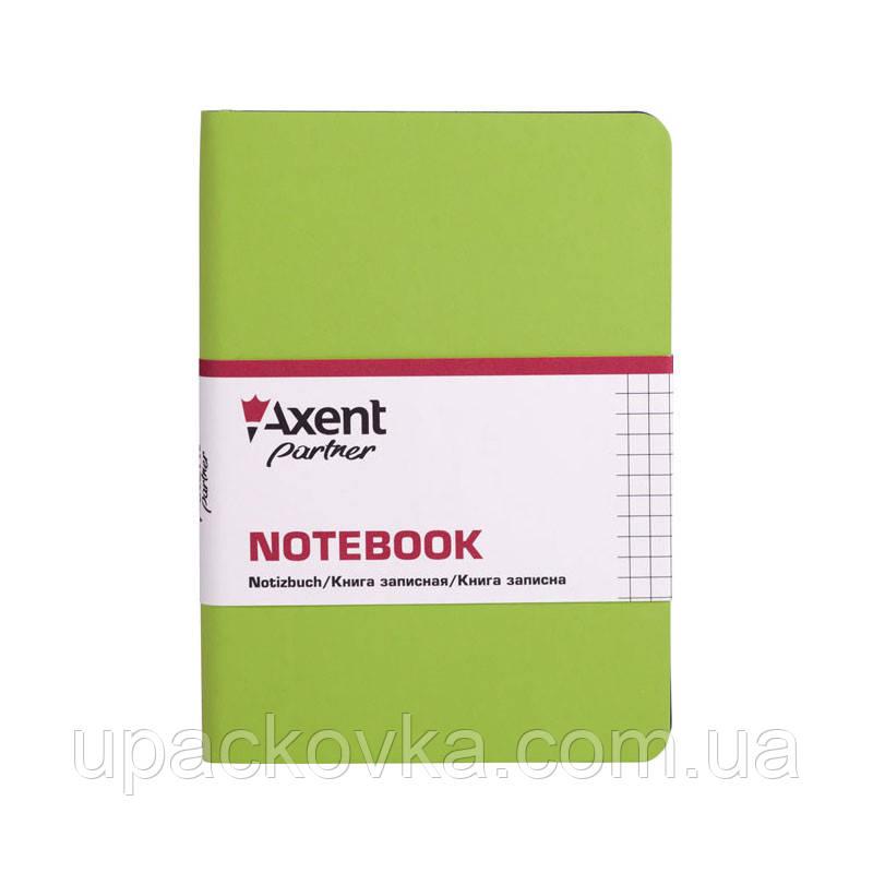 Книга записная Axent Partner Soft Mini 8205-09-A, 115х160 мм, клетка, салатовая