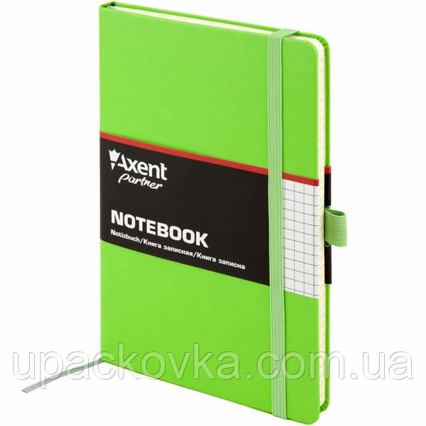 Книга записная Axent Partner 8201-04-A, А5-, 96 листов, клетка, салатовая