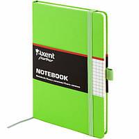 Книга записная Axent Partner 8201-04-A, А5-, 96 листов, клетка, салатовая, фото 1