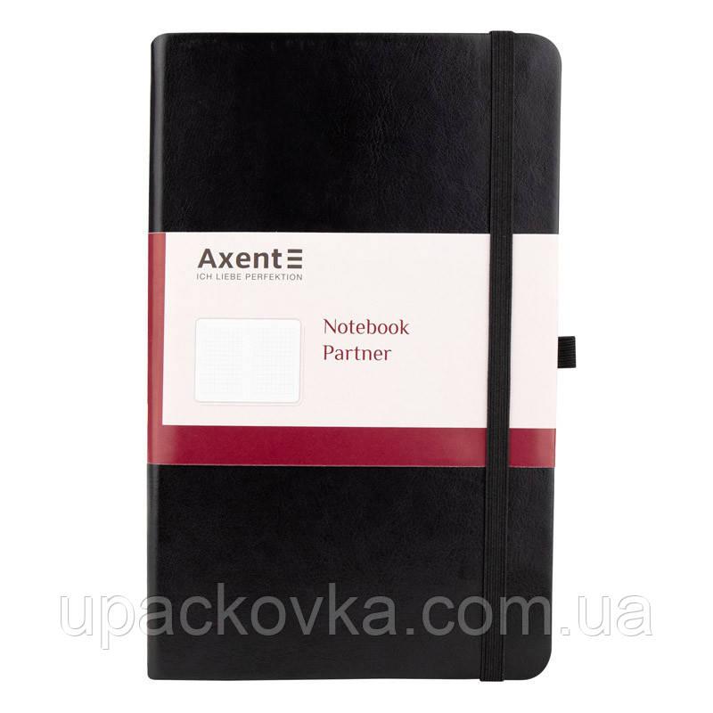 Книга записная Axent Partner Lux 8202-01-A, А5-, 96 листов, клетка, черная