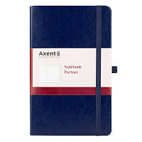 Книга записная Axent Partner Lux 8202-02-A, А5-, 96 листов, клетка, синяя