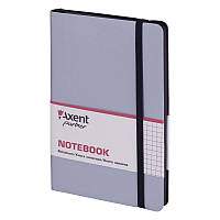 Книга записная Axent Partner Soft 8206-34-A, 125х195 мм, клетка, серебряная, фото 1