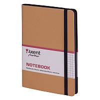 Книга записная Axent Partner Soft 8206-35-A, 125х195 мм, клетка, золотая, фото 1