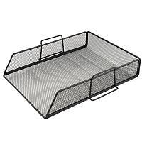 Лоток горизионтальный Axent 2123-01-A, металлическая сеточка, черный
