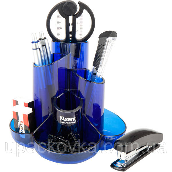 Набор настольный Axent Cascade 2105-02-A, 9 предметов, в картонной коробке, синий