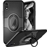 """Чехол на айфон TPU+PC чехол Deen Feather с креплением под магнитный держатель для Apple iPhone XR (6.1"""") Черный"""