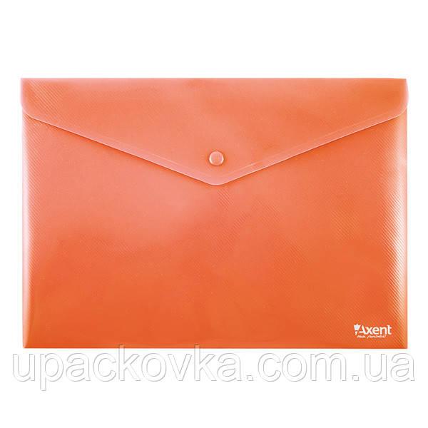Папка на кнопке Axent 1412-24-A, А4, непрозрачная, красная