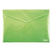 Папка на кнопке Axent 1412-25-A, А4, непрозрачная, зеленая
