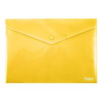 Папка на кнопке Axent 1412-26-A, А4, непрозрачная, желтая