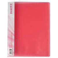 Папка-скоросшиватель Axent 1304-24-A, А4, прозрачная красная